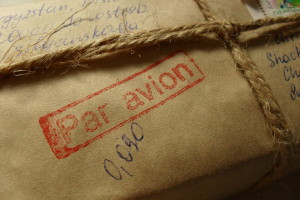 Par avion, air mail