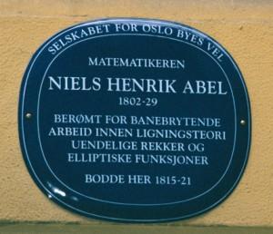 Niels Henrik Abel, vettu